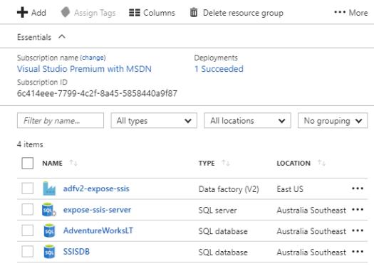 SQLDB Provisioning Screen 2