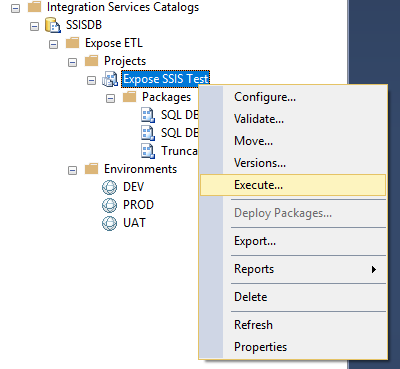SSIS Package Execution